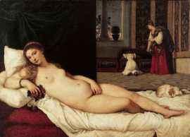 Венера Урбинская 1538г. Venere di Urbino Titian Тициан