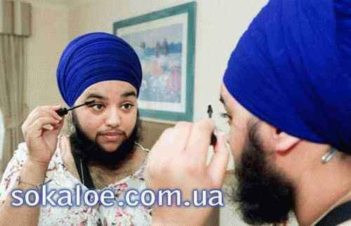 борода у женщин